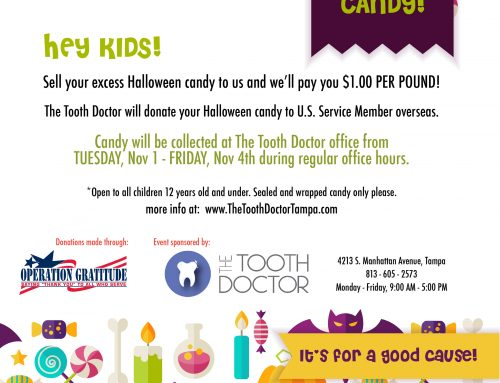 The Tooth Doctor Offers Halloween Candy Buy Back